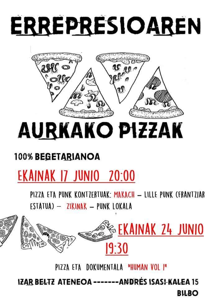 LA PIZZA NO TOLERA LA REPRESIÓN